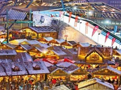 Centro Weihnachtsmarkt mit Skipiste