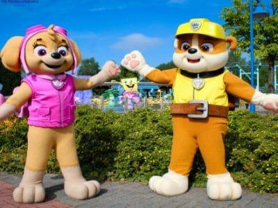 Movie Park Paw Patrol Figuren im Park