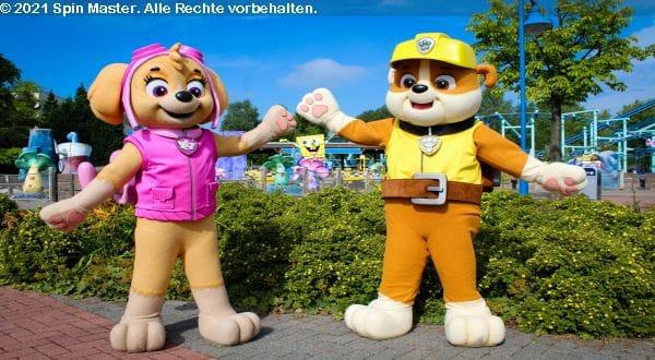 Paw Patrol Figuren im Movie Park Germany